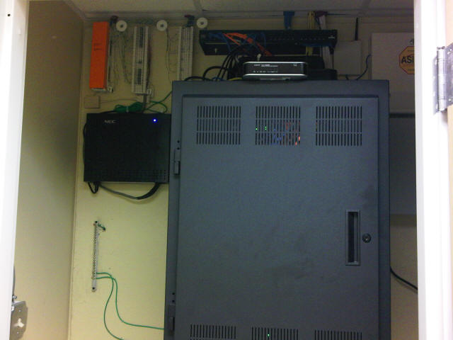 Middle Atlantic Cabinet, NEC Phone System, Structured Wiring, Whole  Building Music, CCTV